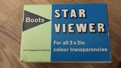 Vintage Boots Star viewer photography transparencies