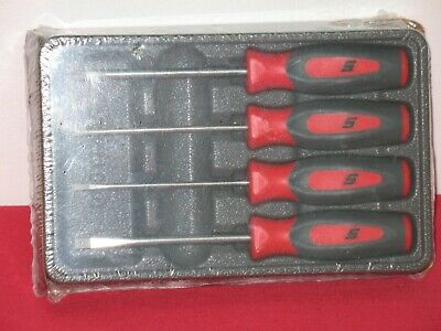 Snap On 4 Piece Red Mini Screwdriver Set Brand New