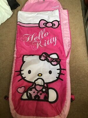 Hello Kitty Ready Bed Inflatable Childs Kids Stay Over Sleeping Bag