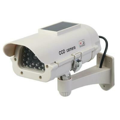 Silverline Dummy Fake CCTV Security Camera + IR LED, Solar-Powered, Weatherproof