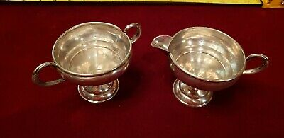 Preisner Sterling Creamer And Sugar Set