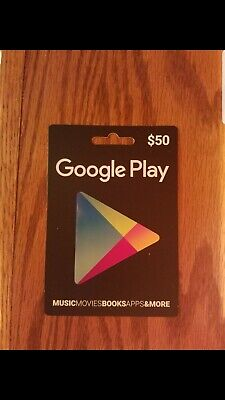Google Play $50  USD Gift Card