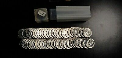 1953-S Roosevelt Dime 50 COIN FULL ROLL CHOICE BU - TONS OF LUSTER