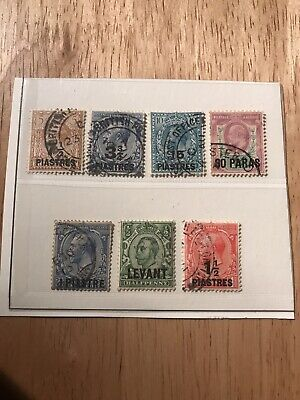 Stamps - Bc. British Levamt (7) Used Mixed Cond & Vals All Shown