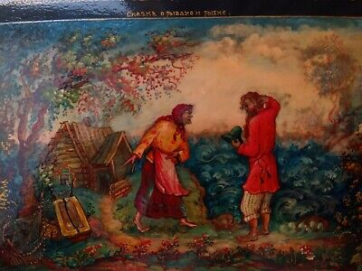 Russian Antique Lacquer Box Fairy Tale