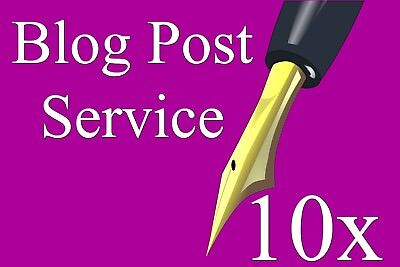 Blog Writing Service - 10 Article Posts / 400 Words Each on Website