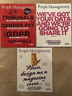 CIPD People Management HR Professional Monthly Journal Magazine X3 May-August 18