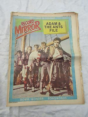 RECORD MIRROR JANUARY 17th 1981 specials colour poster