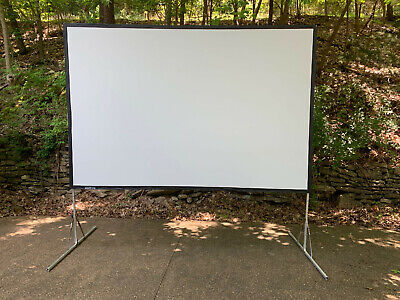 "Da-Lite 7'6""x10' Fast Fold Portable Projection Screen System w/  Legs and Case"