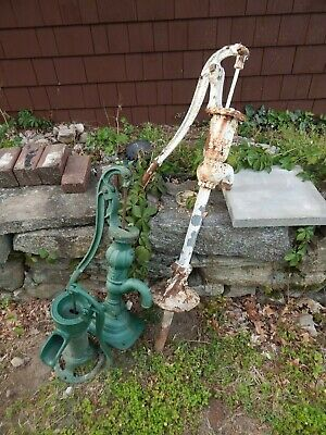 Lot 3 Vintage cast iron Old Farmhouse / Barn Water pumps
