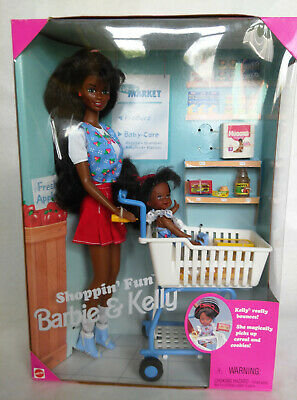 1995 African America Shoppin' Fun Barbie & Kelly Dolls No. 15757 with Acces