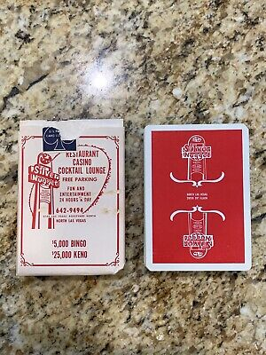 RARE 1970s Vintage Red Deck Silver Nugget Las Vegas Casino Playing Cards