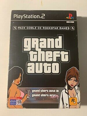 Grand Theft Auto - Pack Doble - Sony Ps2 - Pal España - Gta 3 + Vice City