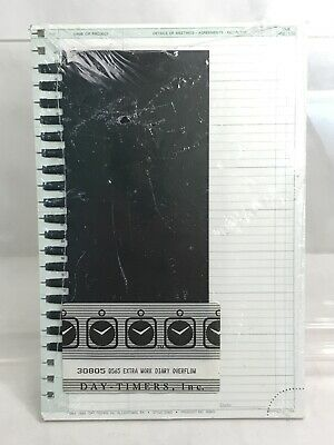 Daytimer's Refill D565 Extra Work Diary Overflow sealed package new