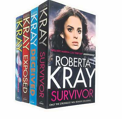 Roberta Kray 4 Books Collection Set Exposed, Dangerous Promises, Deceived NEW