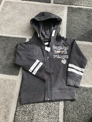 NWT Girls Matalan Hoodie Size 7years Grey