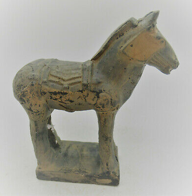 Beautiful Old Chinese Antique Style Terracotta Ming Horse Statue