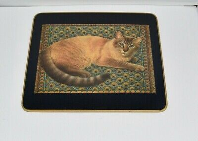 Clover Leaf Ivory Cats 6 Traditional Table Mats