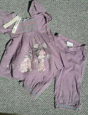 (72) Age 3-4 Girls 2 Piece Summer Set - Next Signature  NEW
