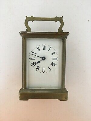 SFRA Gilded Bronze Carriage Clock Vintage Antique
