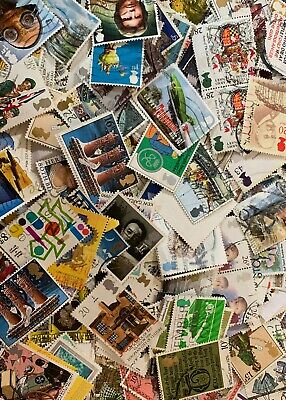 100g  Mix Of British Commemorative Stamps Used Off Paper franked GB Stamps