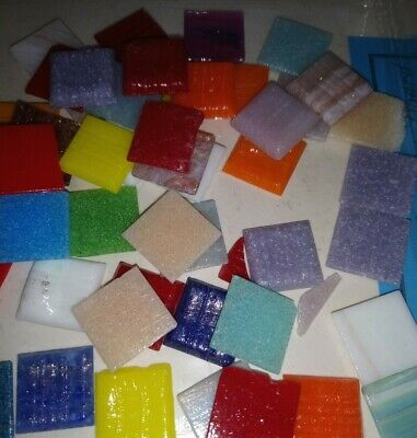glass mosaic tiles assorted colours 150g 20 x 20mm