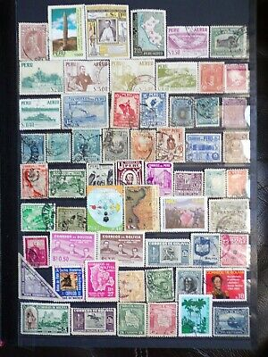 Collection Of Peru + Bolivia Stamps