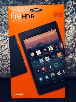 Brand New And Sealed Amazon Kindle Fire HD 8 Tablet with Alexa 16gb RED