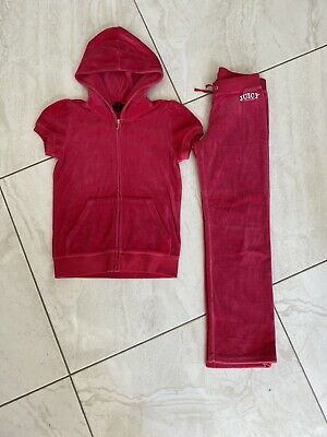 girls pink short sleeve juicy couture tracksuit age 12-14