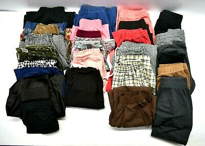 Lot of 26 Various Brands Women's Small Mixed Styles Casual Pants Shorts Skirts