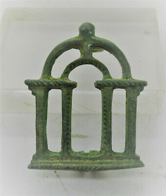 Detector Finds Ancient Roman Openwork Bronze Military Campgate Brooch