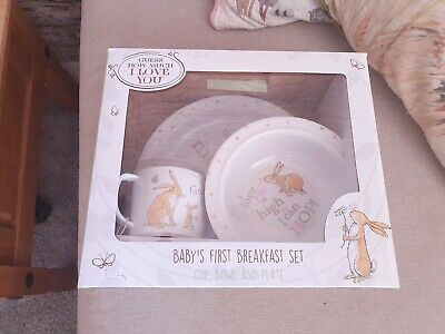Guess How Much I Love You Dinner Set Baby First Plate Cup Bowl New