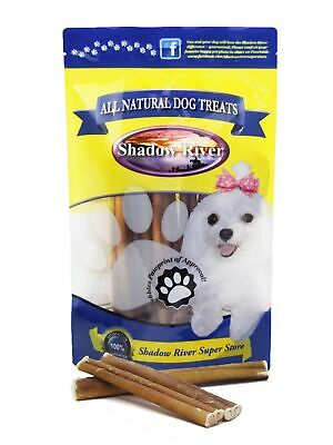 25 Pack 6 Inch Regular All Natural Premium Beef Bully Sticks by Shadow River