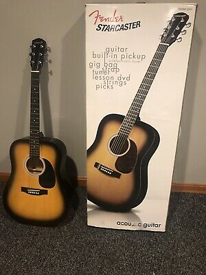 Fender Starcaster Acoustic Guitar With Built In Tuner