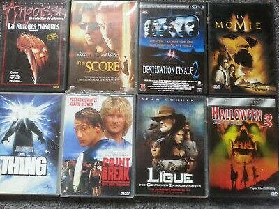 8 films DVD aventure policier science fiction frisson