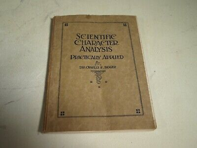 Antique Science Book Scientific Character Analysis Charles Boger C1916