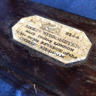 Early Antique Cased Bate Sikes Hydrometer No 2144 Georgian Scientific Instrument