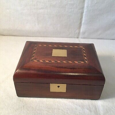 Elegant Victorian Dome Topped Jewellery / Sewing Box With Great Interior