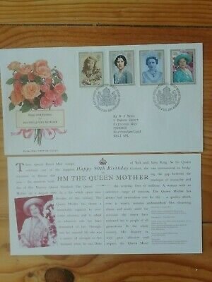 Royal Mail first day cover Queen Mother 90th birthday 1990