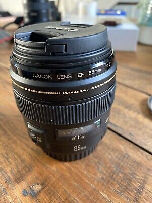 Canon 85mm f/1.8 EF USM Prime Lens + Canon hood + Pro Clear Filter