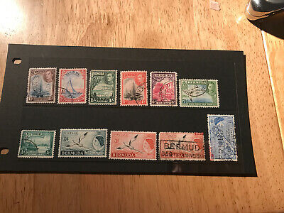 Stamps - Bc Bermuda (11) Used Mixed Cond & Vals All Shown