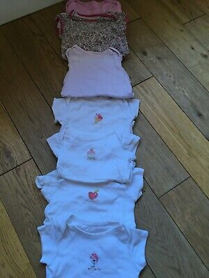 Baby girl (7-piece) bundle of vests (incl Mamas&Papas, Next)