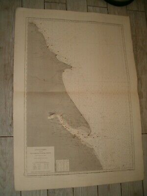 Vintage French Chart 2706 UK - RIVER HUMBER to WHITBY 1921 edn