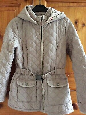 Girls Jasper Conran Debenhams Coat Jacket Quilted Beige Quilted Age 12-13 Years