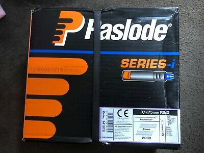Genuine Paslode Series-i 2200x 3.1x75mm Ring Galv-Plus Nails 2 x gas 09/2021