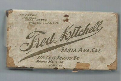 Antique 1910 Candy Peanuts Ice Cream Advertising Box Container FRED MITCHELL