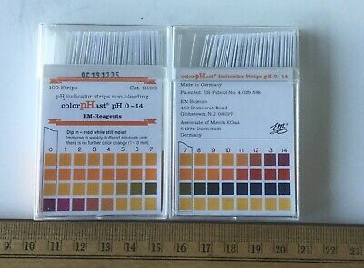 Two packs of 100pcs PH Indicator Test Strips 1-14