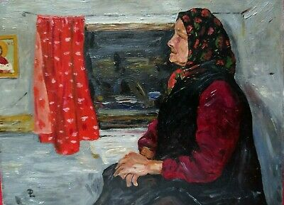 Oil Painting Old Woman