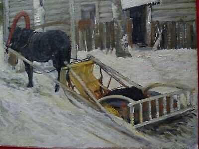 Oil Painting Winter Scene
