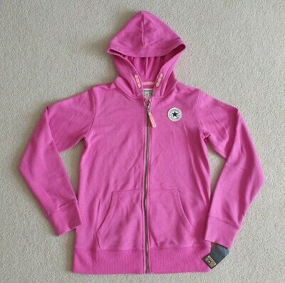 BNWT Girls Pink Converse All Star Hoodie Hooded Top Age 12 - 13 Yrs